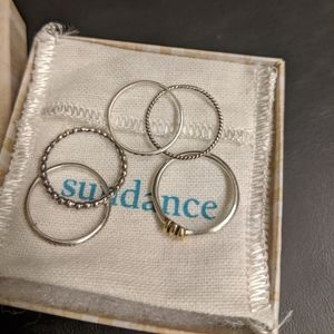Sundance Jewelry - Set of 5 Sundance Stacking Rings - New in Box